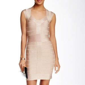 French Connection Bodycon Dress Size 4 Peach